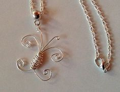 Handcrafted Wire Wrapped Butterfly Pendant Necklace   eBay