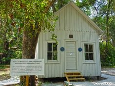One of only six remaining one room schoolhouses in Florida.
