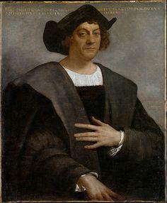 Sebastiano del Piombo (Sebastiano Luciani), c.1485-1547, Italian, Portrait of a Man, Said to be Christopher Columbus (born about 1446, died 1506), 1519.  Oil on canvas; 106.7 x 88.3 cm.  Metropolitan Museum of Art, New York.  High Renaissance, Mannerism.