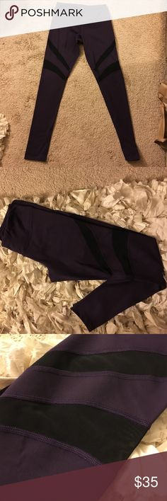Mesh Plum workout leggings new! Super comfy!! Soft stretchy with mesh on legs!!!New never used!!! Too small for my quads! The color is gorgeous!! Bought for $45+tax!!!😫😫😫😫but don't fit me!!! 😰 Pants Leggings