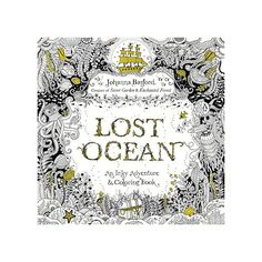 With Lost Ocean, Johanna Basford invites color-inners of all ages to discover an enchanting underwater world hidden in the depths of the sea. Through intricate pen and ink illustrations to complete, color, and embellish, rea Adult Coloring, Coloring Books, Coloring Pages, Colouring, Free Coloring, Lost Ocean, Ocean Colors, Johanna Basford, Lewis Carroll