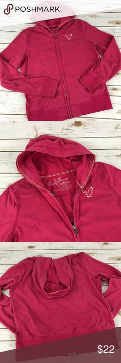 """American Eagle Zip-Up Jacket Soft zip up sweatshirt  with front pockets and hood.  In great condition.   📐Measurements & Information 📐  Chest Approx 42"""" Length approx 24.5"""" 60% cotton, 40% polyester American Eagle Outfitters Jackets & Coats"""