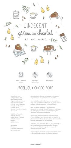 Chocolate-pear cake by becomeadinosaur