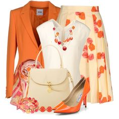"""""""Bright Colors & Mixed Patterns for the Office"""" by brendariley-1 on Polyvore"""