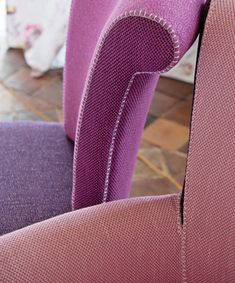 Sloane and Eton fabric make smart upholstery with their mini checks in pink colour ways