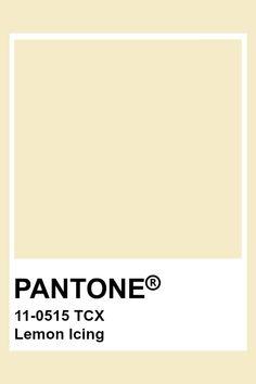 PANTONE 11-0515 TCX Lemon Icing #pantone #color #pastel Paleta Pantone, Pantone Tcx, Pantone Swatches, Color Swatches, Pantone Color Chart, Pantone Colour Palettes, Pantone Colours, Brown Pantone, Yellow Pantone