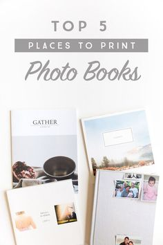 Photo books are a great way to get those photos off your phone or computer and on display for your family to enjoy! Ever feel overwhelmed with all the options that are available! Come find out the top 5 places to print photo books! Places To Print Photos, Faire Un Album Photo, Family Yearbook, Foto Fun, Photo Storage, Photo Memories, Photo Projects, Photo Craft, Photo Displays