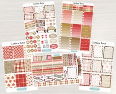Pinning for later! These stickers are perfect. Available at Crafted By Corley on Etsy. Garden Rose Weekly Planner Kit - Weekly Stickers Planner Stickers Weekly View Planner for use with ERIN CONDREN LifePlanners by CraftedByCorley
