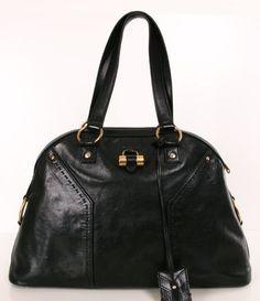 black satchel.
