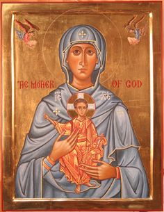 Mother of God with Angels - Aidan Hart Sacred Icons