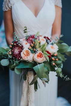 Bouquet | Boho | Rustic | Red | Trends | 2018