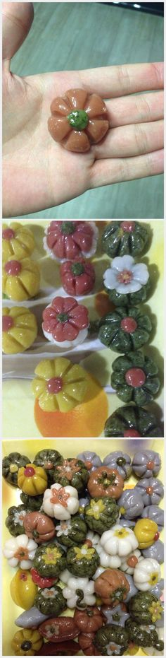 This is so special Songpyeon Art :) Songpyeon is Korean traditional tteok that made at Korea thanksgiving days.
