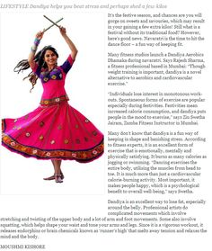 """Dandiya Your Way To Fitness 'LIFESTYLE Dandiya helps you beat stress and perhaps shed a few kilos.' """"Individuals lose interest in monotonous work-outs. Spontaneous forms of exercise are popular especially during festivities. Festivities mean increased calorie consumption, and dandiya puts people in the mood to exercise,"""" says Zin Swetha Jairam, Zumba Fitness Instructor in Mumbai."""