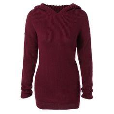 Longline Hooded Chunky Sweater