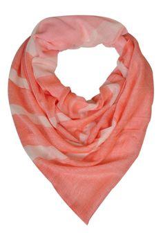 Peach fine chic wool scarf by Elabore Store
