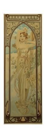 The Times of the Day: Daytime Dash Giclee Print by Alphonse Mucha at Art.com