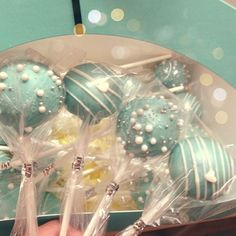 Tiffany inspired cake pops