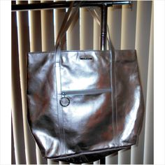 Beautiful Clinique Big Shimmering Silver Metallic Tote Bag Listing in the Shopper & Tote,Bags & Purses,Womens Accessories & Bags,Clothes, Shoes, Accessories Category on eBid From RainbowSkies