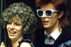 David Bowie with his wife Angie Bowie