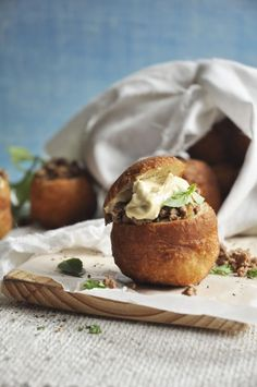 Vetkoek with Lamb and Hummus - A fusion of flavors! - My Easy Cooking South African Recipes, Ethnic Recipes, Easy Cooking, Cooking Recipes, Milk Tart, Hot Soup, Tart Recipes, Afternoon Tea, Food Styling
