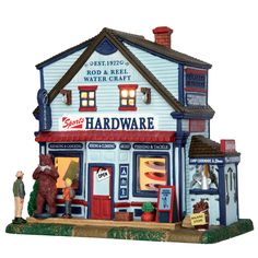 Lemax Sports Hardware. SKU# 55013.  Released in 2017 as a Porcelain Lighted Building for the Plymouth Corners collection.