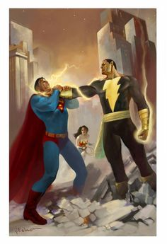 11/12/17 6:49p DC Superman Vs. Black Adam Choke s-media-cache-ak0.pinimg.com