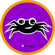 Festa digital Halloween - Anahua - Halloween Faça você mesma uma festa original, você imprime e monta!  www.cartoesefestas.wordpress.com