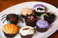 Cupcakes decorados de Halloween