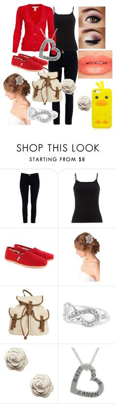"""""""Hybrid- Chapter 5"""" by gleegirl99 ❤ liked on Polyvore featuring Current/Elliott, Hobbs, Autumn Cashmere, TOMS, Deepa Gurnani, Wet Seal, Accessorize and Bobbi Brown Cosmetics"""