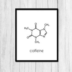 Caffeine Molecule Printable Gift for Boss by TheNerdyFamily