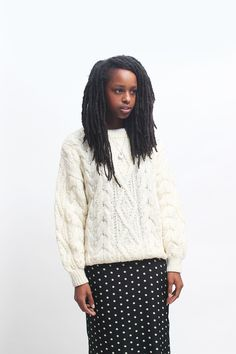 Vintage Ivory Jumper http://www.thewhitepepper.com/collections/new-in/products/vintage-ivory-jumper