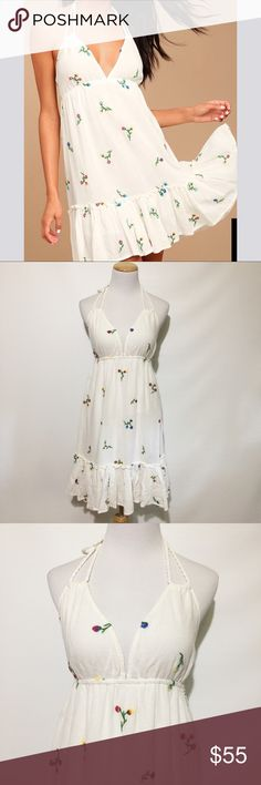 LOVE STRUCK IVORY EMBROIDERED DRESS NWT. 100% cotton. Love Struck Dresses Midi