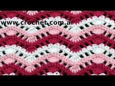 Punto Fantasía N° 38 en tejido crochet tutorial paso a paso. - YouTube