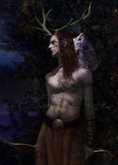 Cernunnos - Celtic horned god, a peaceful god of nature & fruitfulness; also known as the Lord of Wild Things""