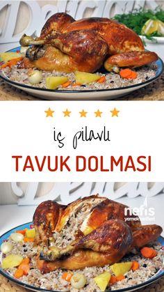 Kitchen Ikea, Kitchen Art, Good Food, Yummy Food, Chicken Rice, Stuffed Chicken, Iftar, Turkish Recipes, Homemade Beauty Products