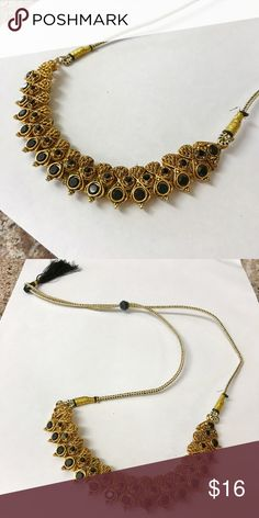 India Necklace Excellent condition. Gold and black color. Boutique Jewelry Necklaces