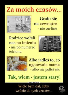 TAK Poland Culture, Poland Country, Good Old Times, Childhood Memories, Haha, Nostalgia, The Past, Good Things, Humor