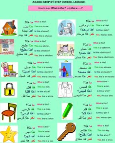 Arabic step by step course. Lesson 2.