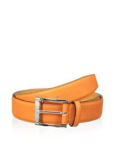 59% OFF Leone Braconi Men's Sauvage Bullskin Belt (Orange)