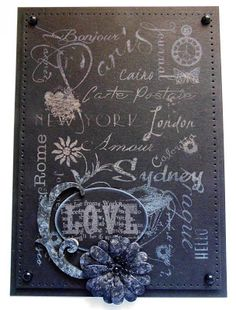 Hi Bloggers. Had a great day at Phill's shop yesterday - so very busy! Here's today's card - This card shows the lovely CS Chalk Clo...