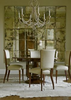 fantastic distressed mirror...would be  amazing to recreate