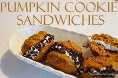 ... pumpkin cookies filled with vanilla frosting & rolled in chocolate