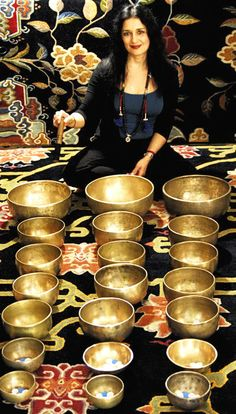 Singing Bowl Sets: Shakti with 3 matched sets of Tibetan Singing Bowls Reiki, Music Express, Yoga Positions, Deep Relaxation, Sound Healing, Meditation Music, Instruments, Stress And Anxiety, Bowl Set