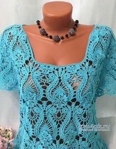 No photo description available. Crochet Shirt, Crochet Top, Crochet Needles, Irish Lace, Crochet Fashion, Crochet Clothes, Crochet Projects, Crochet Patterns, Product Description