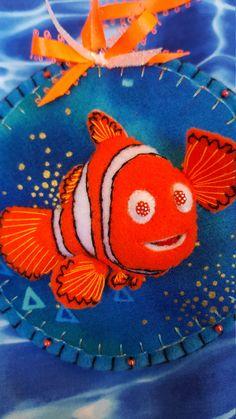 Felt Nemo ornament-3D Nemo by DebsArtsyEnchantment on Etsy
