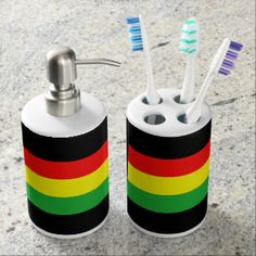 Colorado In Rasta Colors Toothbrush Holder