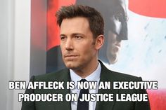 """EXCLUSIVE: Warner Bros has made a subtle addition to the Justice League braintrust. Ben Affleck already set to co-star in the film has signed on to become its executive producer as well. In that role he will work with director Zack Snyder and screenwriter Chris Terrio behind the scenes to make the film the best it can be. It seems like a smart move given that Affleck is already on the premises to reprise his Batman/Bruce Wayne character and because hes as strong a storytelling presence as…"