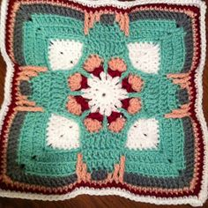Ravelry: Project Gallery for Holiday Ornament Afghan Square pattern by Julie Yeager