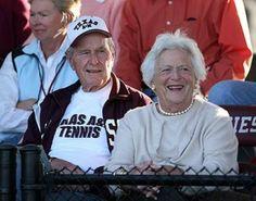 Texas A&M Aggies Tennis - VIP Fans (Former President George and Barbara Bush)