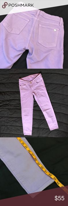 Kate Spade Play Hooky Purple Skinny Jeans 25 Kate Spade Broome Street Play Hooky light purple skinny jeans. Great used condition. 98% cotton 2% elastane. Made in USA. kate spade Jeans Skinny